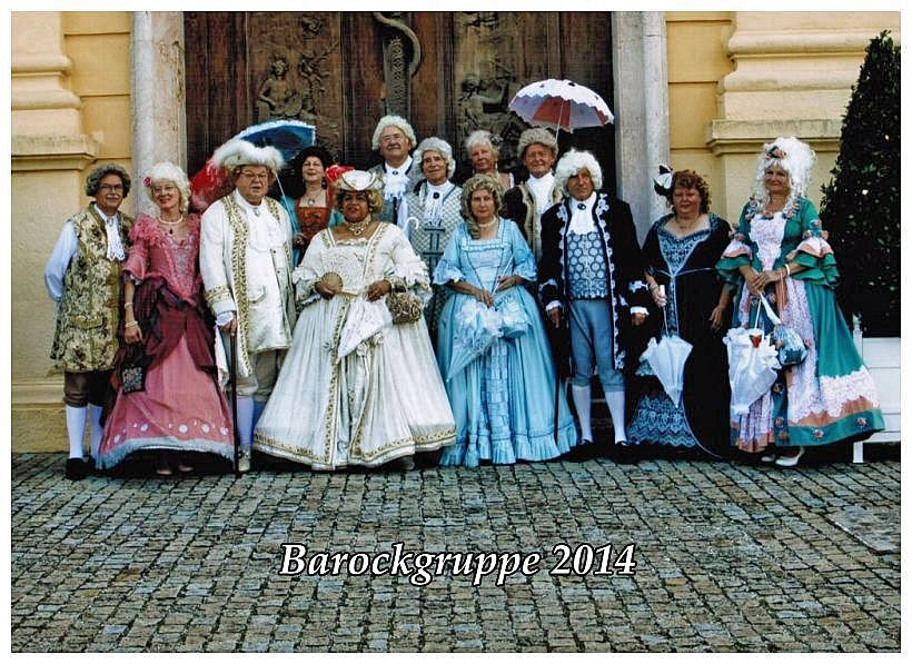Barockgruppe 2014 mit Text